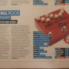 Movall – ROCK HIGHWAY Pedal: 5 stars overall ratings by Total Guitar magazine