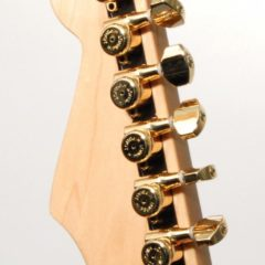 GUITAR TUNER UPGRADE KIT 6 IN LINE GRIP-LOCK CLOSED GOLD