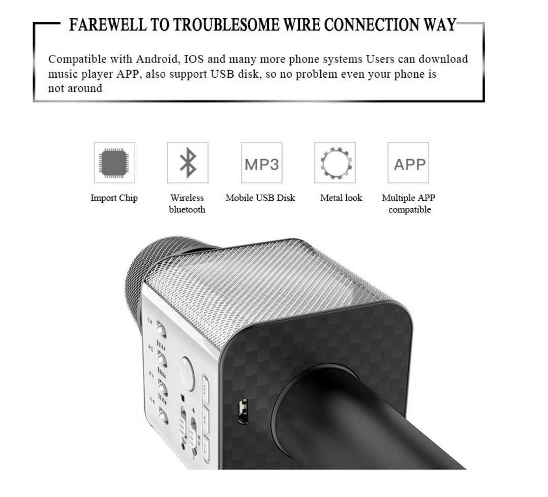 MicGeek – Q9 Wireless Bluetooth Karaoke Speaker Microphone – Sound ...