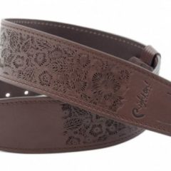 RightOn! LEATHER GUITAR STRAPS – MAGIC / REEF BROWN