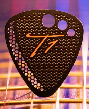 T1 Stainless Steel Jazz Guitar Pick 3-Pack